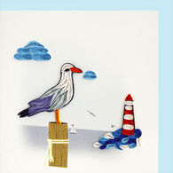 Quilling Card Seagull And Lighthouse Everyday Card